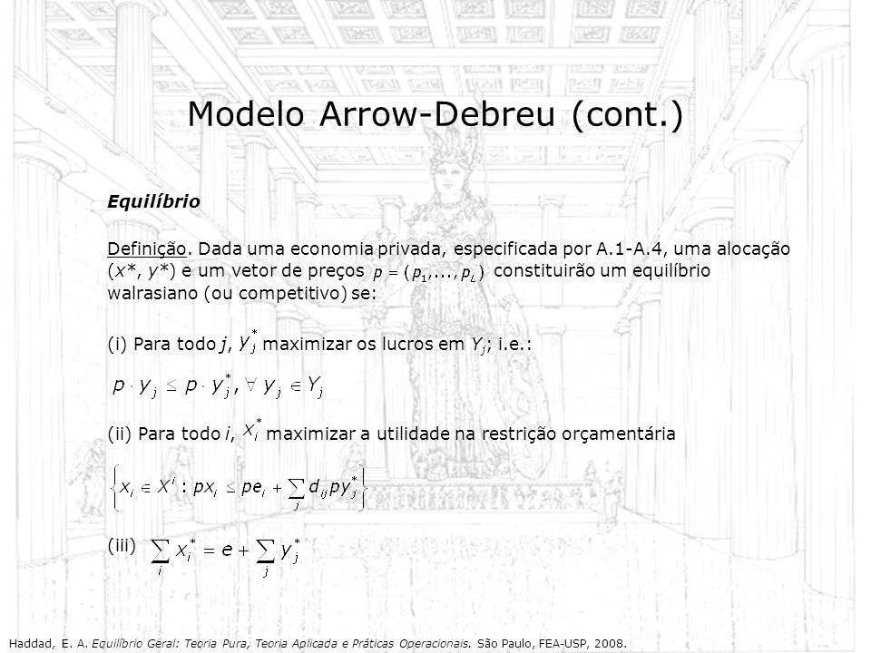 Modelo Arrow-Debreu (cont.)