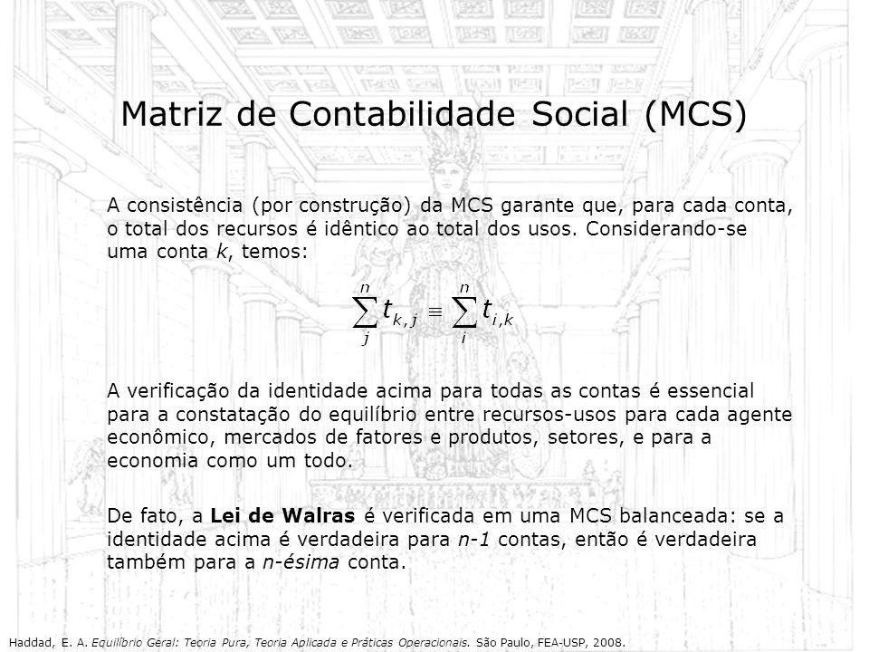 Matriz de Contabilidade Social (MCS)