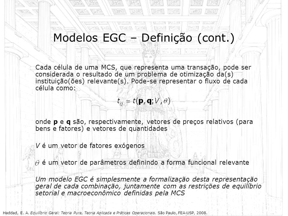 Modelos EGC – Definição (cont.)