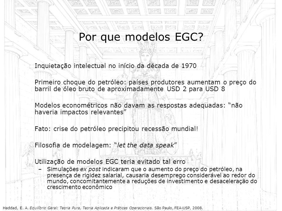 Por que modelos EGC Inquietação intelectual no início da década de 1970.