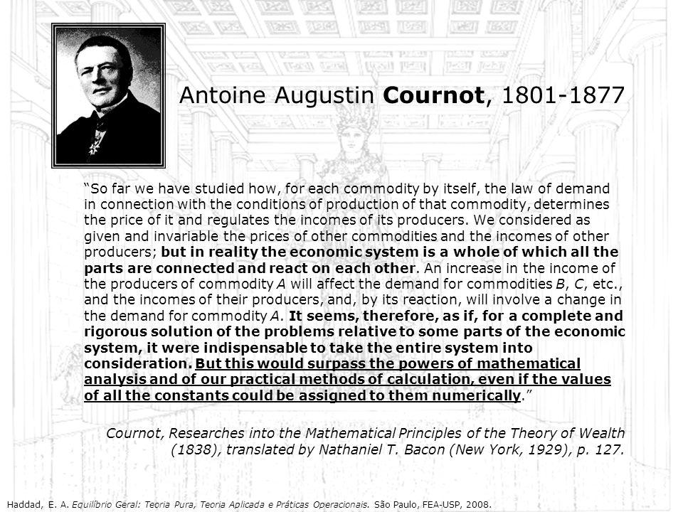 Antoine Augustin Cournot, 1801-1877