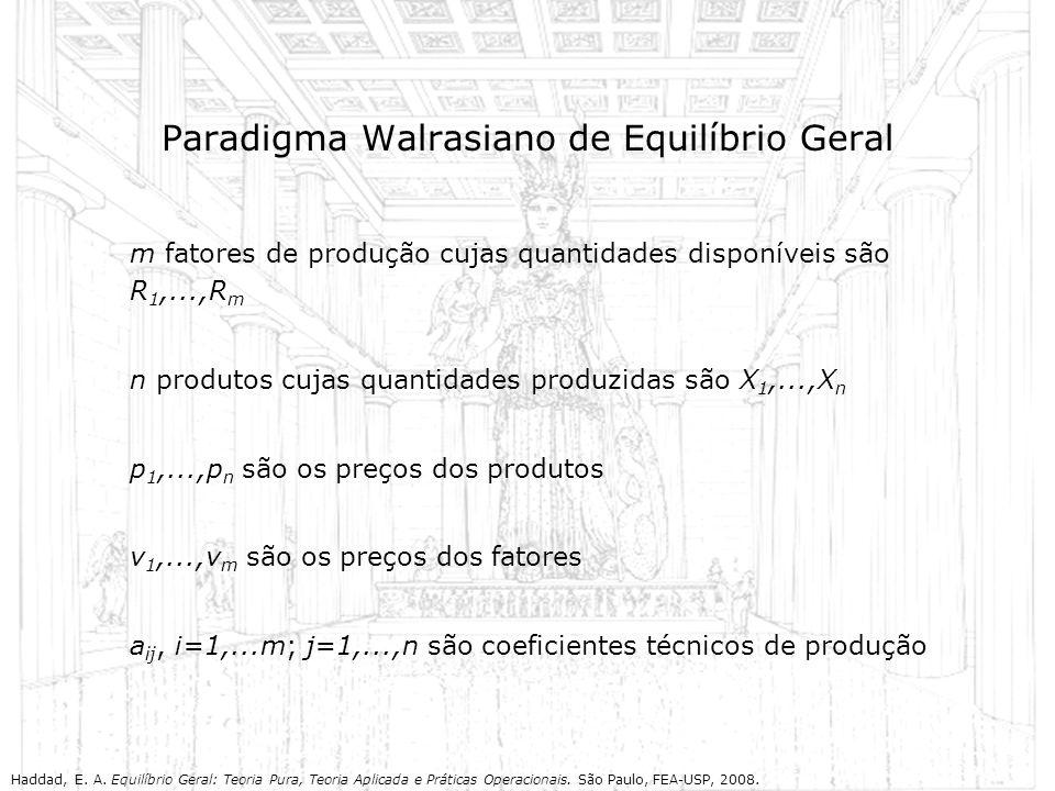 Paradigma Walrasiano de Equilíbrio Geral