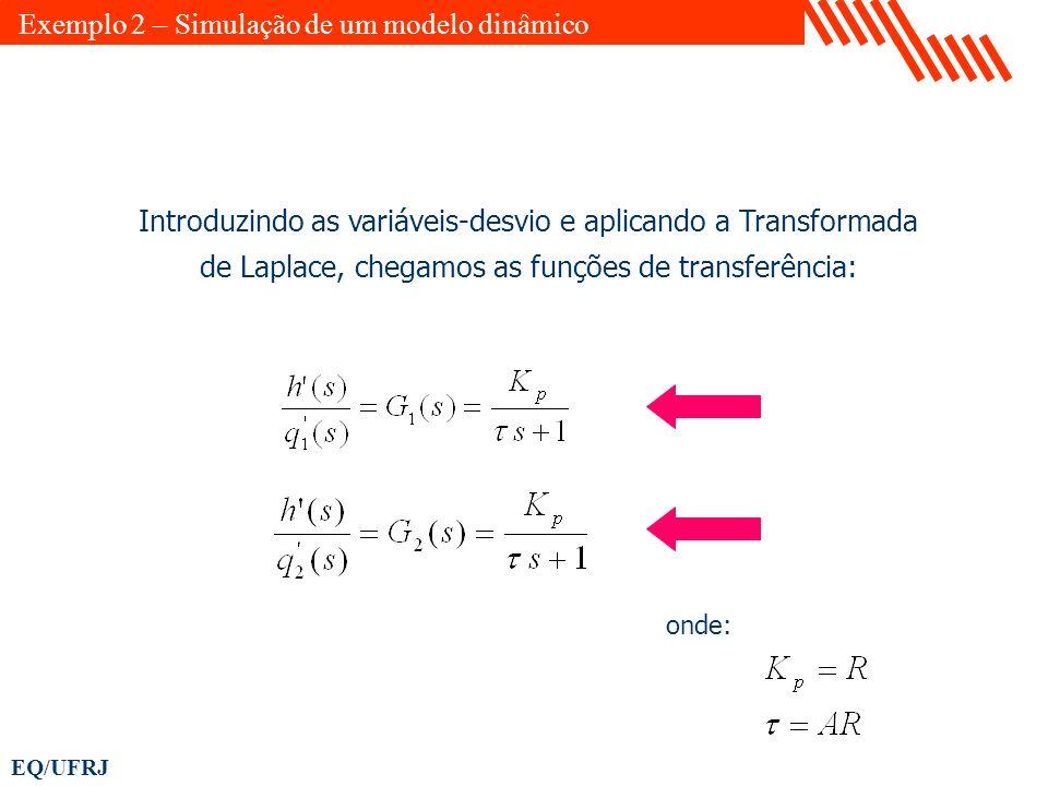 Exemplo 2 – Simulação de um modelo dinâmico