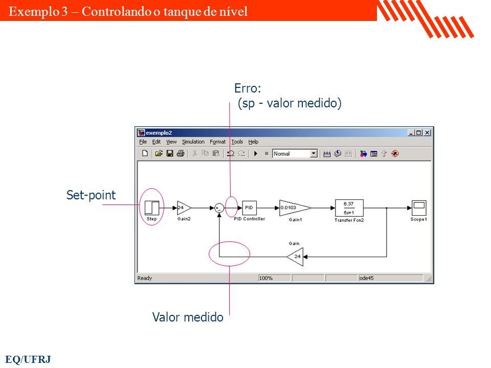 Exemplo 3 – Controlando o tanque de nível