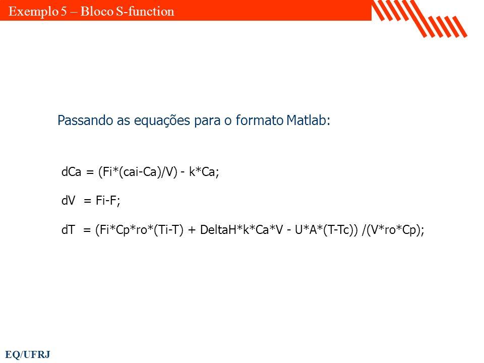 Exemplo 5 – Bloco S-function
