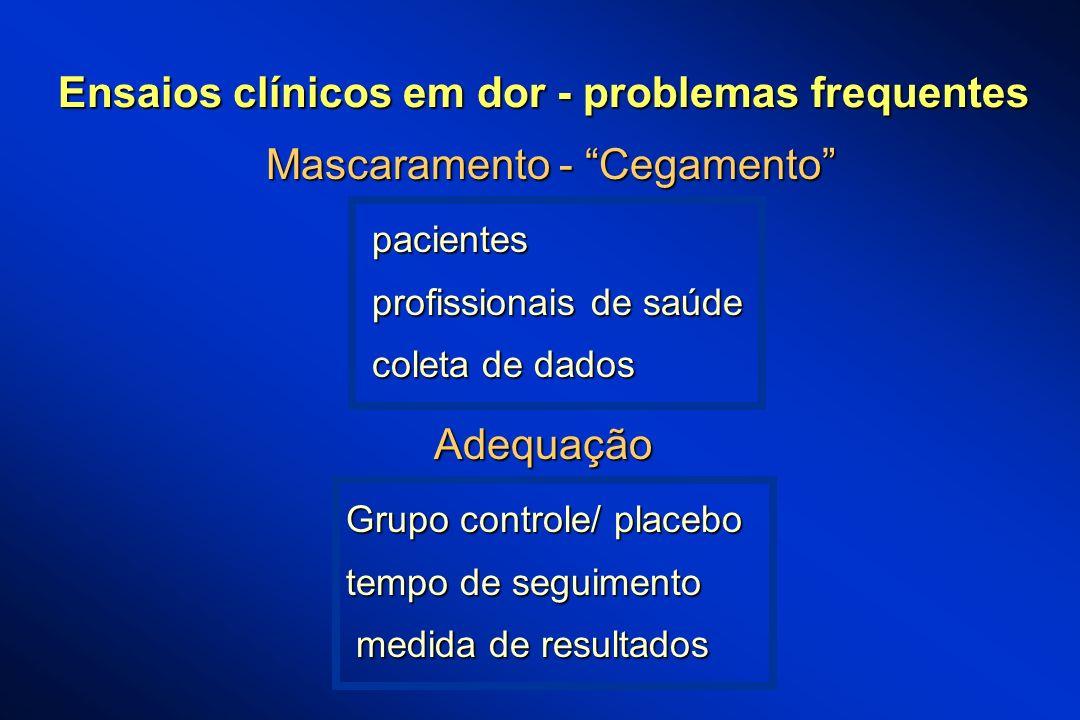 Ensaios clínicos em dor - problemas frequentes