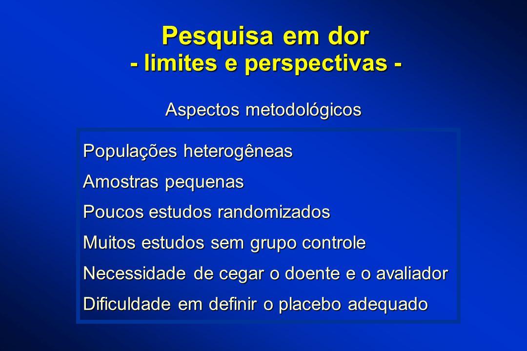 - limites e perspectivas -