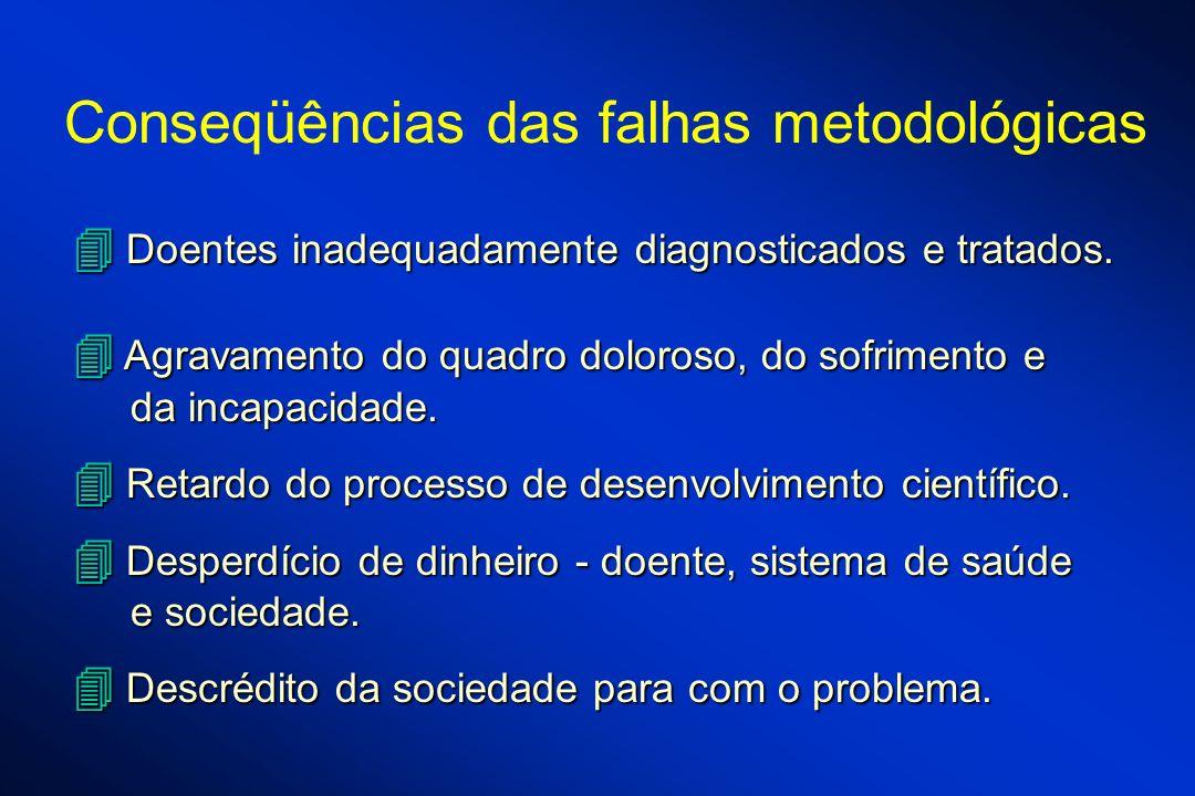 Conseqüências das falhas metodológicas