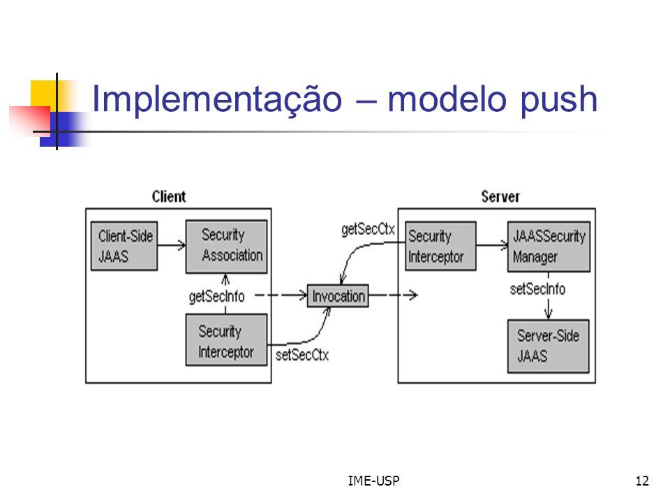Implementação – modelo push