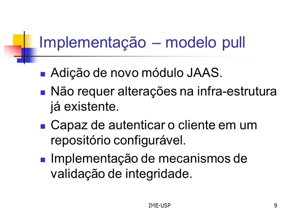 Implementação – modelo pull