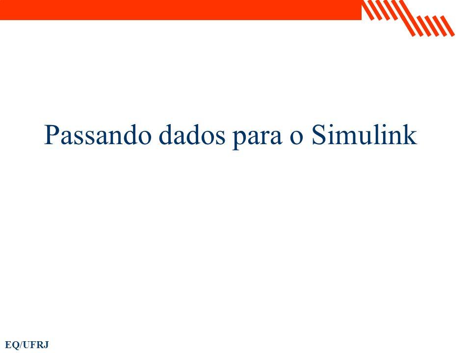 Passando dados para o Simulink