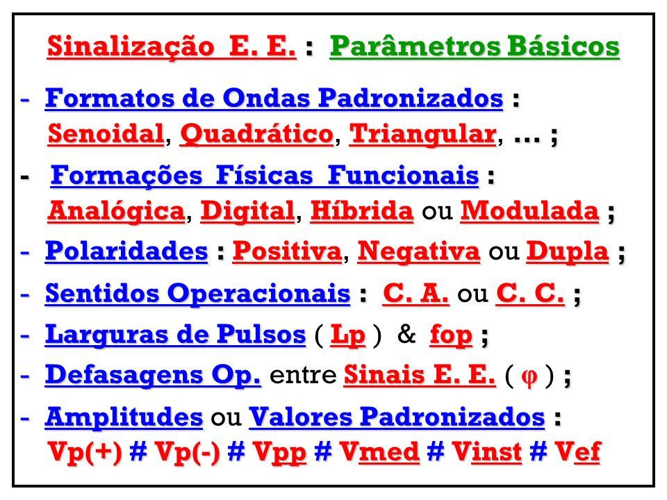 Sinalização E. E. : Parâmetros Básicos