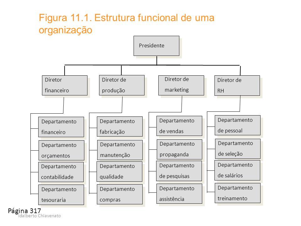 Figura 11.1. Estrutura funcional de uma organização