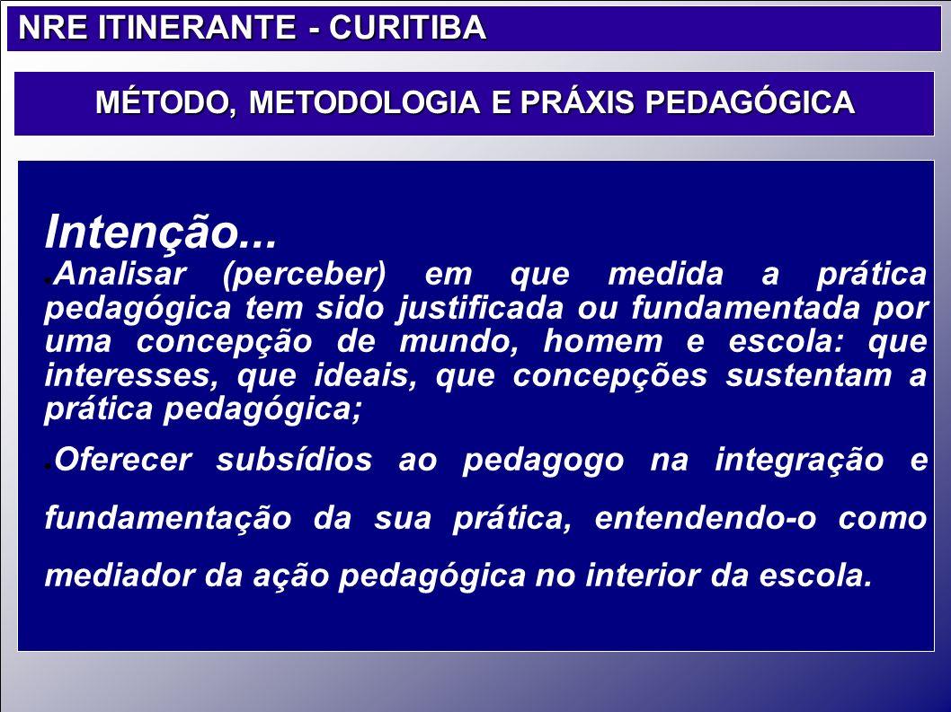 MÉTODO, METODOLOGIA E PRÁXIS PEDAGÓGICA