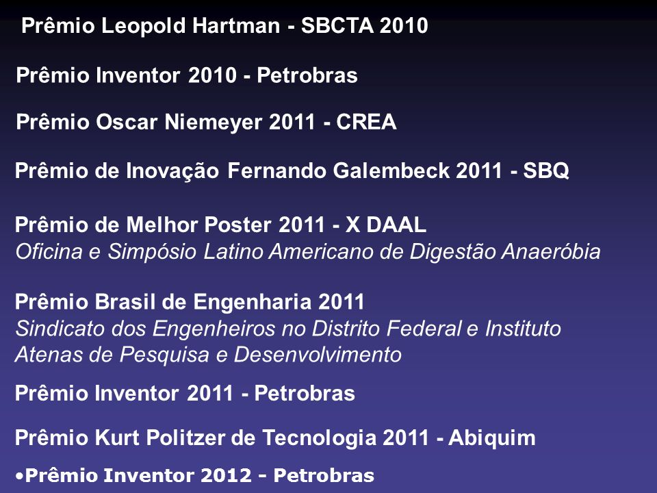 Prêmio Leopold Hartman - SBCTA 2010