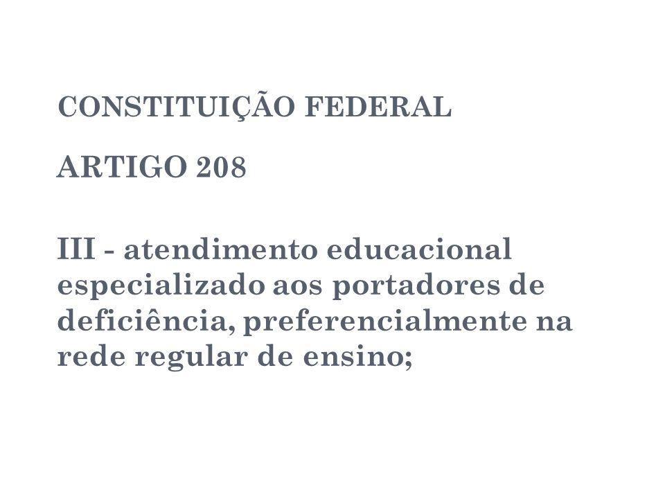 CONSTITUIÇÃO FEDERAL ARTIGO 208.