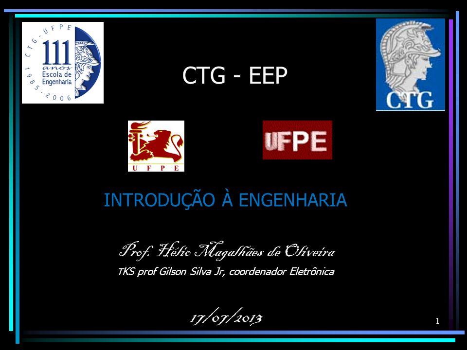 CTG - EEP 17/07/2013 INTRODUÇÃO À ENGENHARIA