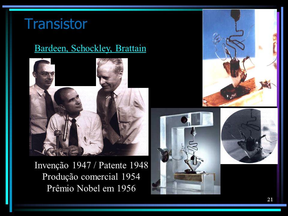 Transistor Bardeen, Schockley, Brattain Invenção 1947 / Patente 1948