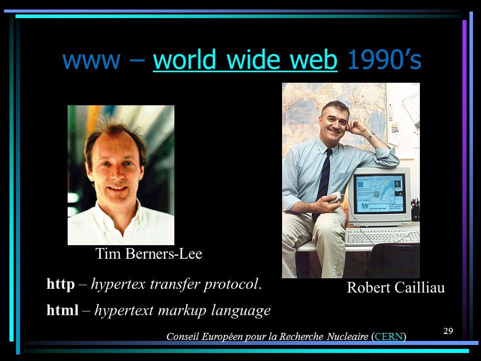 www – world wide web 1990's Tim Berners-Lee
