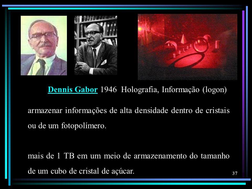 Dennis Gabor 1946 Holografia, Informação (logon)