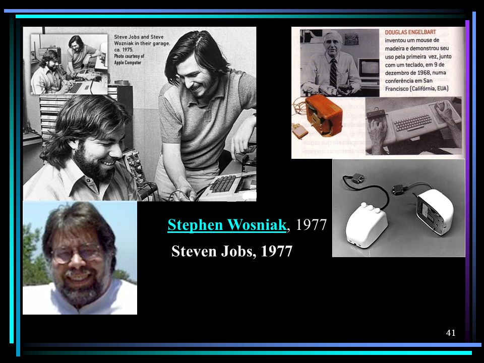 Stephen Wosniak, 1977 Steven Jobs, 1977