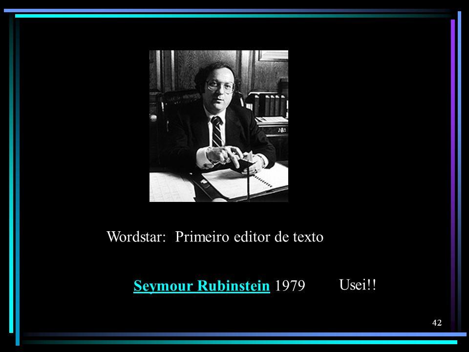 Wordstar: Primeiro editor de texto