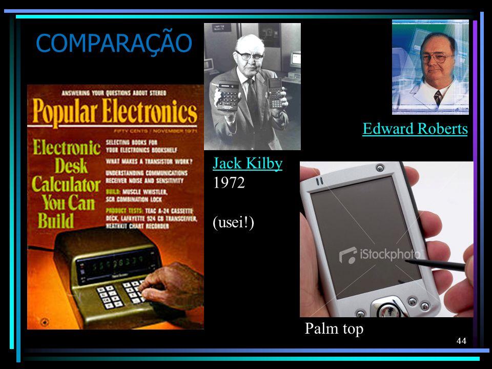 COMPARAÇÃO Edward Roberts Jack Kilby 1972 (usei!) Palm top