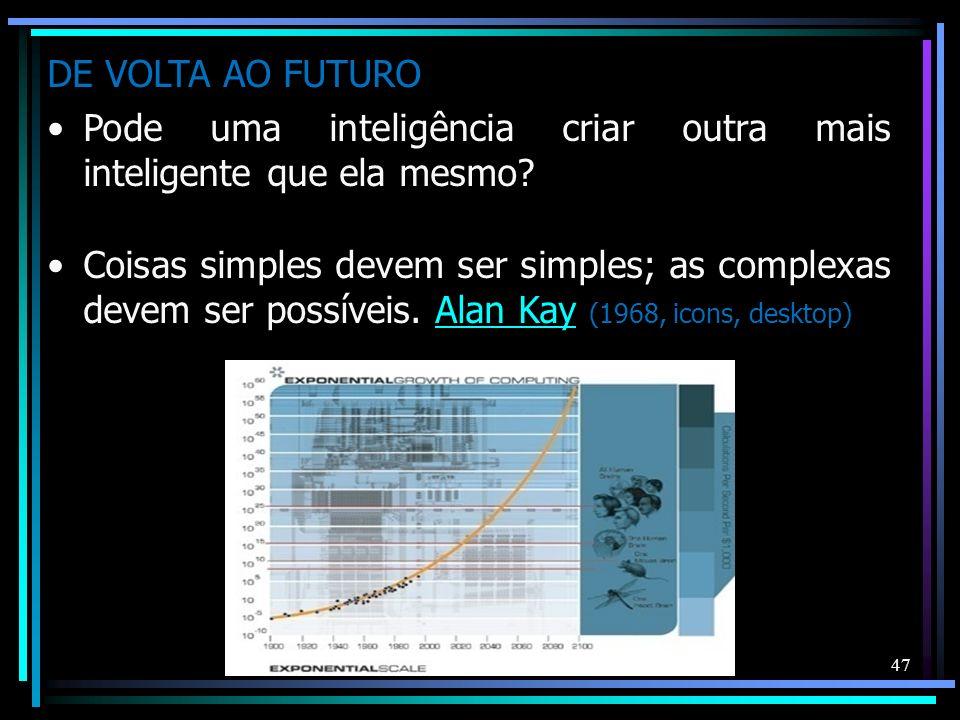 DE VOLTA AO FUTURO Pode uma inteligência criar outra mais inteligente que ela mesmo