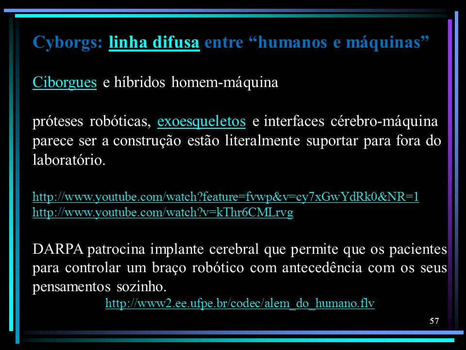 Cyborgs: linha difusa entre humanos e máquinas Ciborgues e híbridos homem-máquina