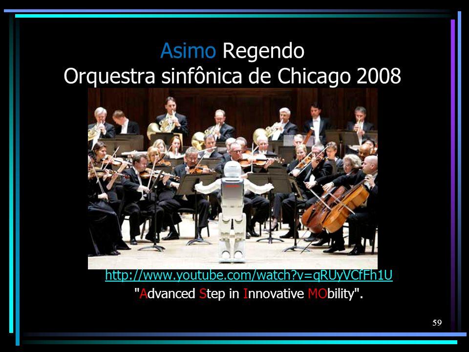 Asimo Regendo Orquestra sinfônica de Chicago 2008
