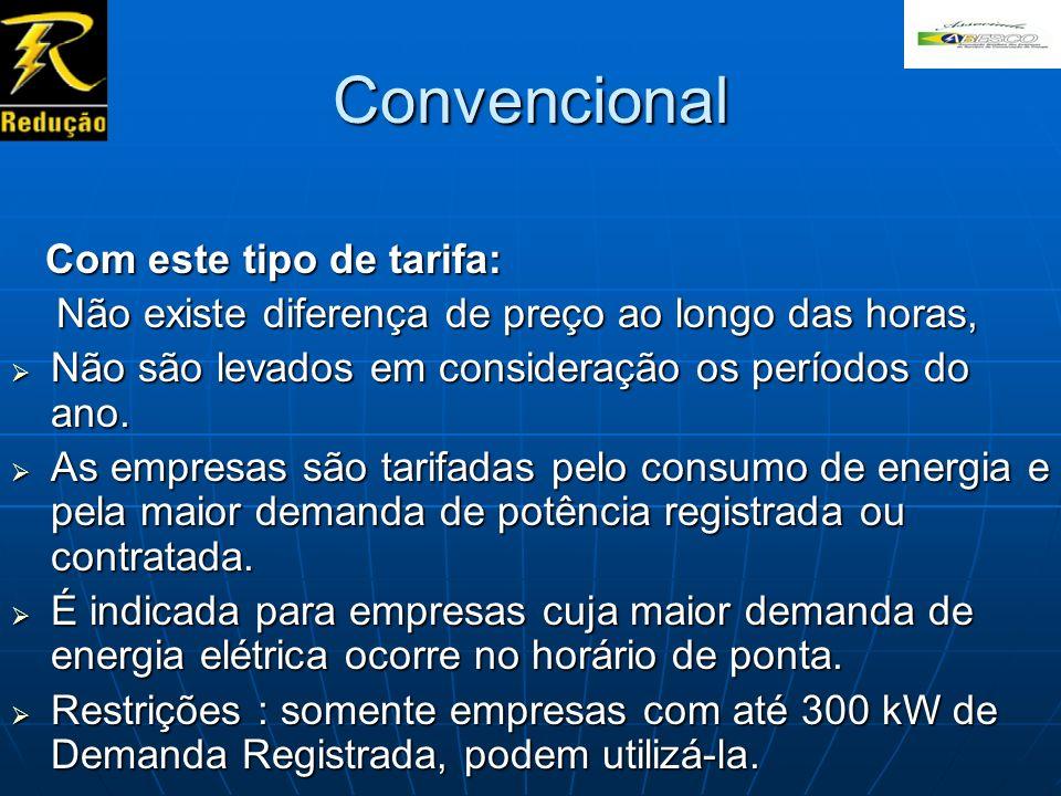 Convencional Com este tipo de tarifa: