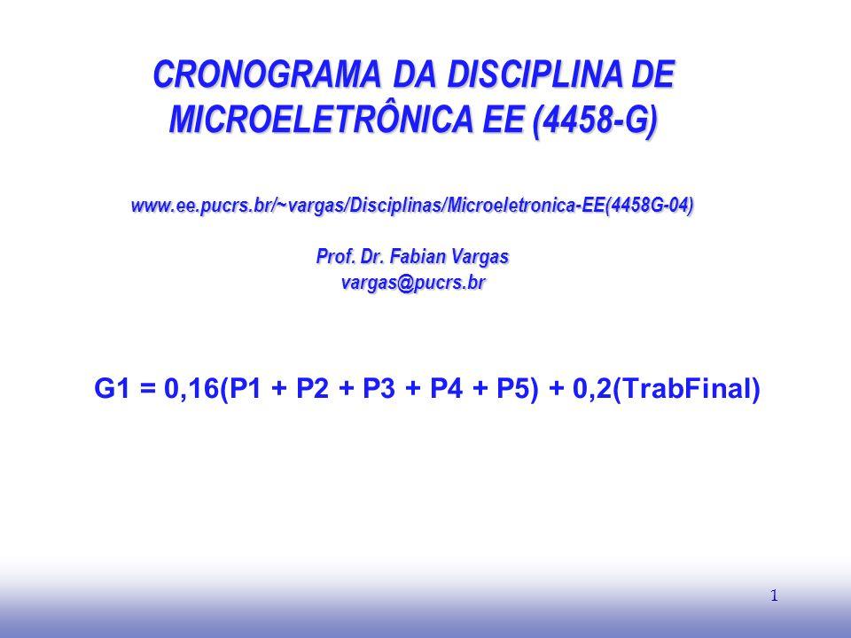 G1 = 0,16(P1 + P2 + P3 + P4 + P5) + 0,2(TrabFinal)