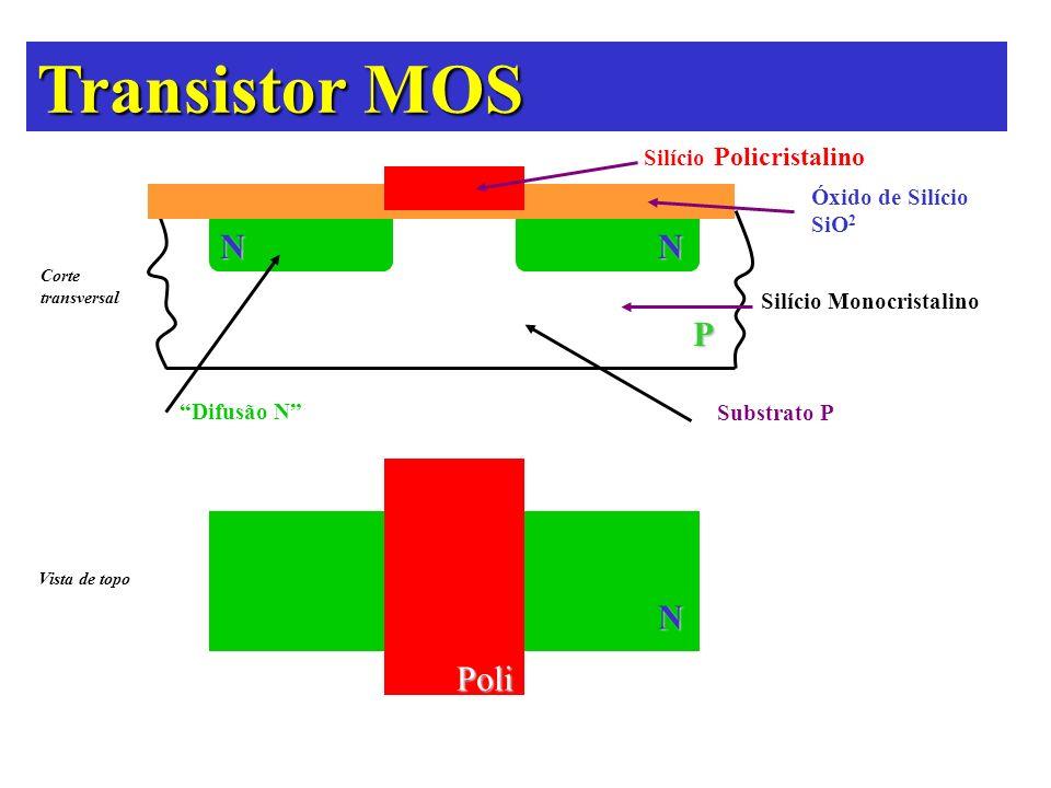 Transistor MOS N N P N Poli Silício Policristalino Óxido de Silício
