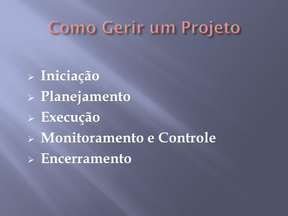 Como Gerir um Projeto Iniciação Planejamento Execução
