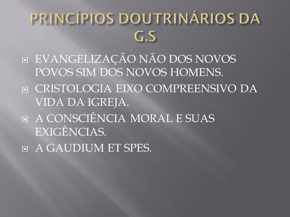 PRINCÍPIOS DOUTRINÁRIOS DA G.S