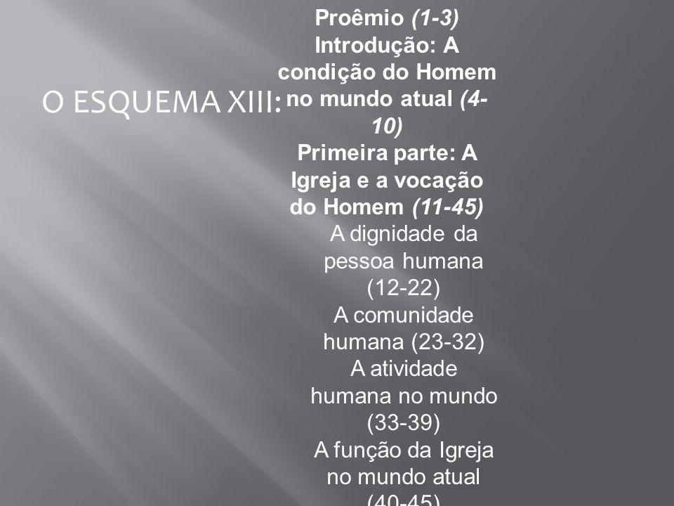 O ESQUEMA XIII: Proêmio (1-3)