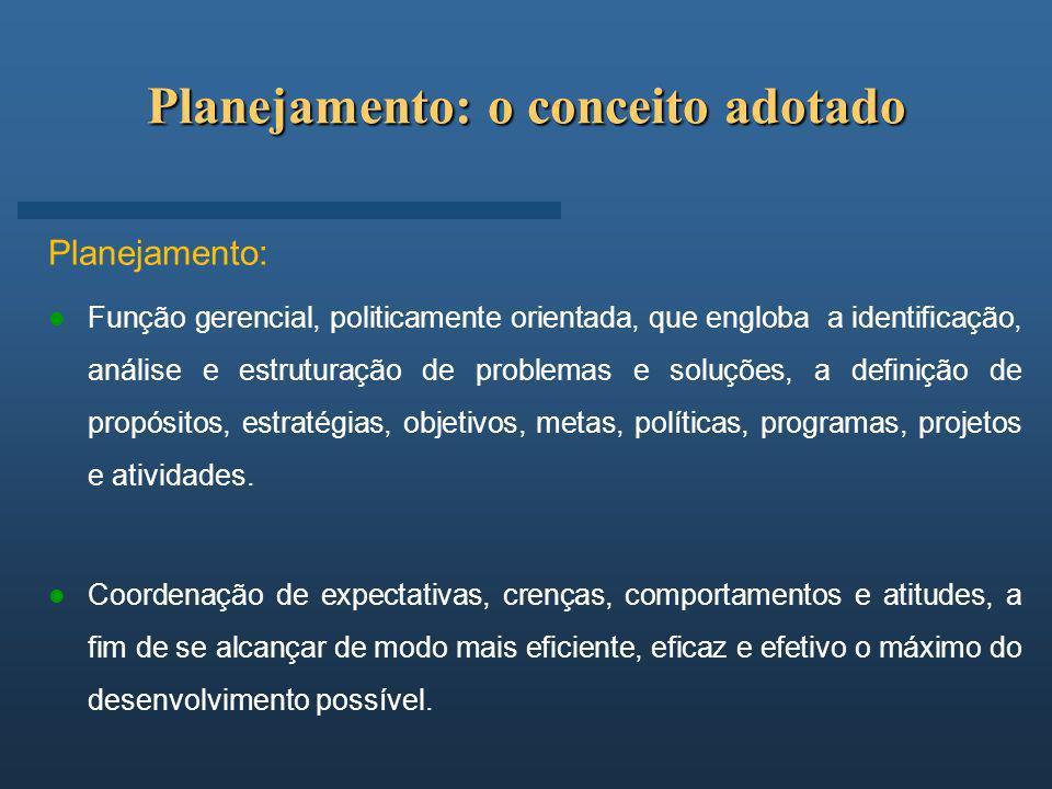 Planejamento: o conceito adotado