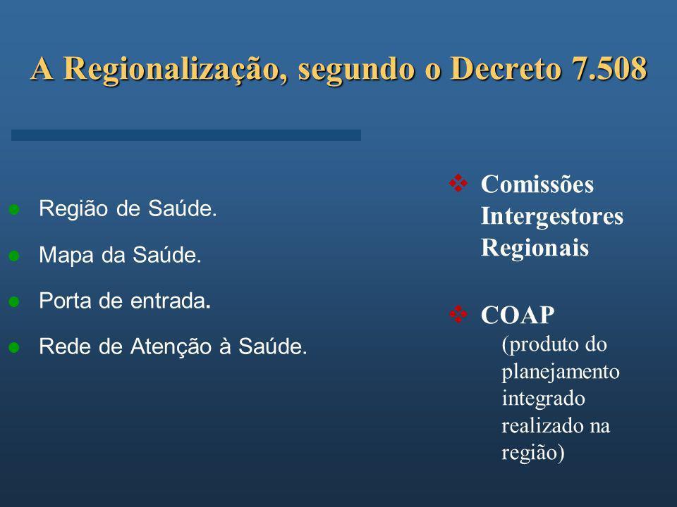 A Regionalização, segundo o Decreto 7.508
