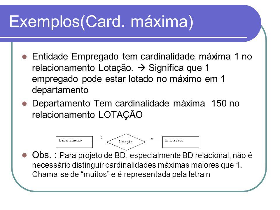 Exemplos(Card. máxima)