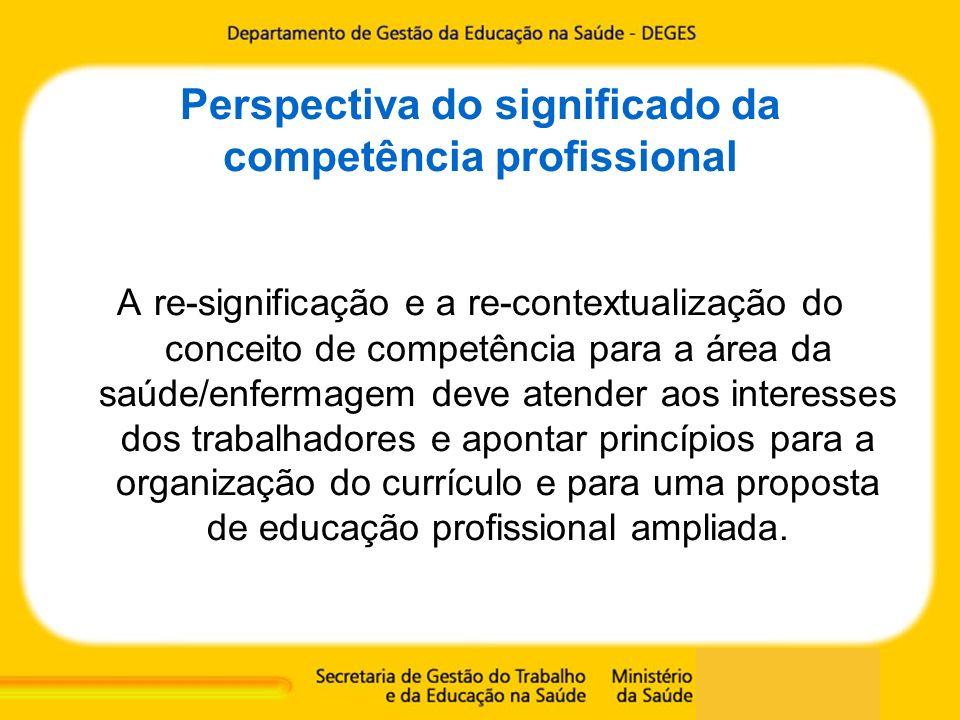 Perspectiva do significado da competência profissional