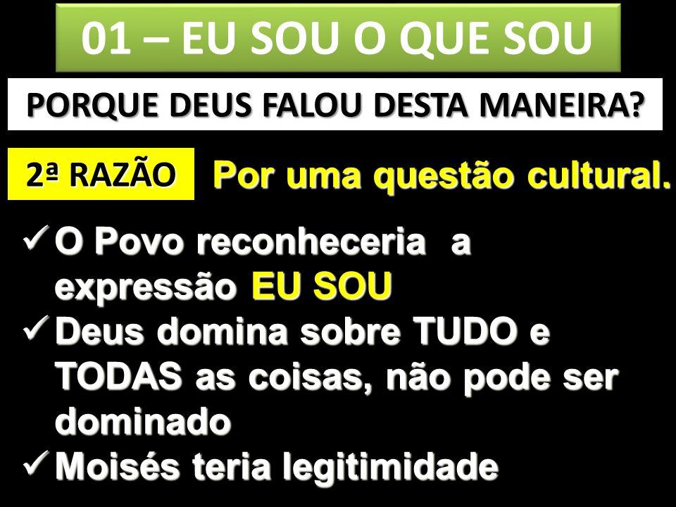 PORQUE DEUS FALOU DESTA MANEIRA