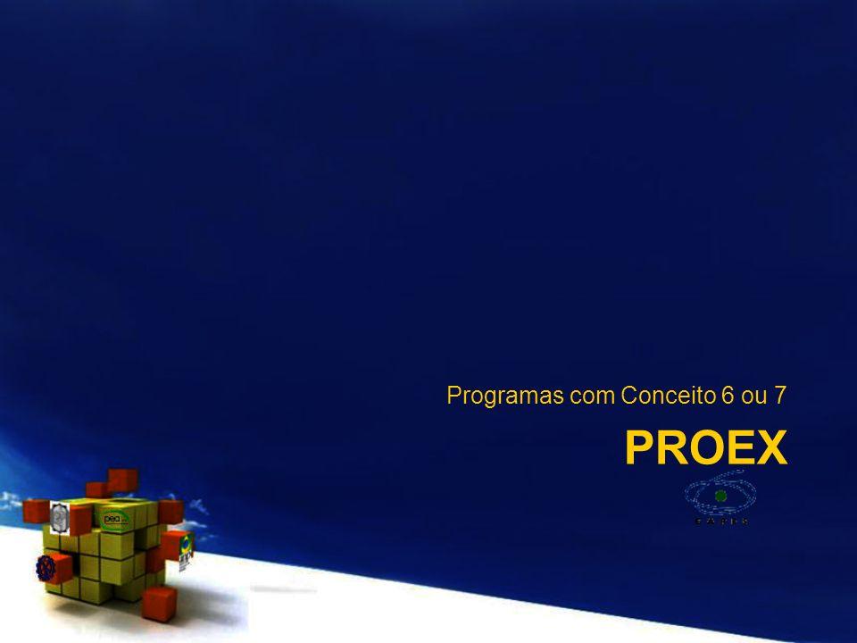 Programas com Conceito 6 ou 7