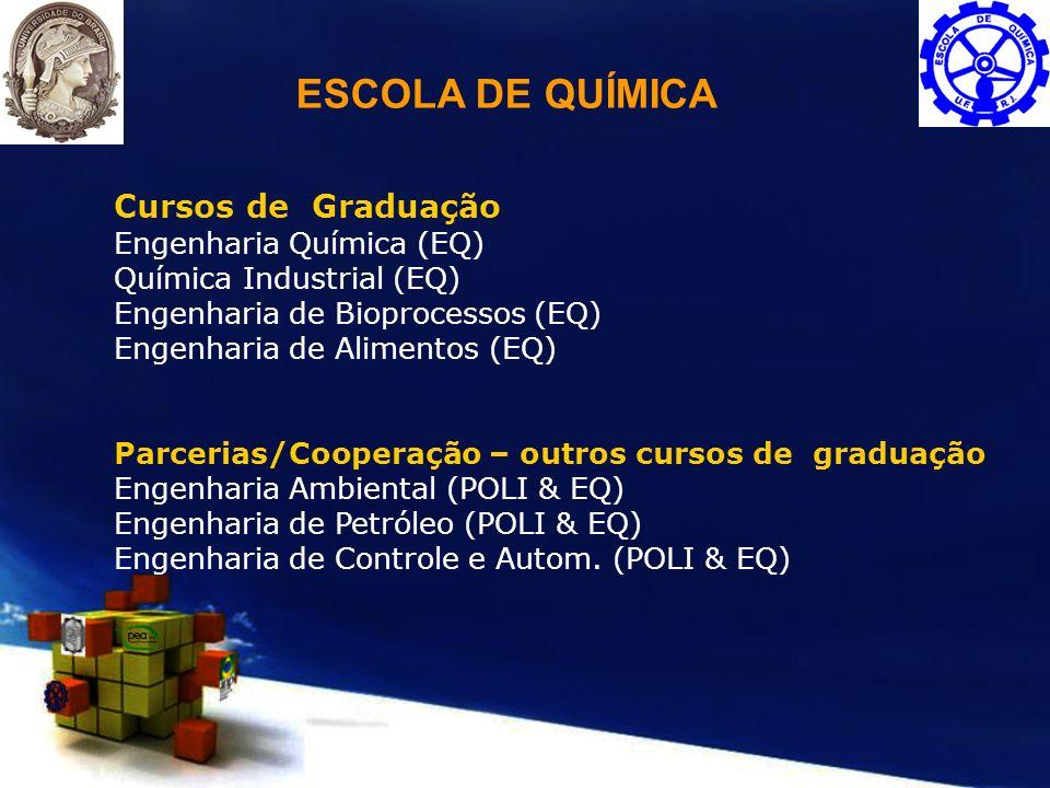 ESCOLA DE QUÍMICA Cursos de Graduação Engenharia Química (EQ)