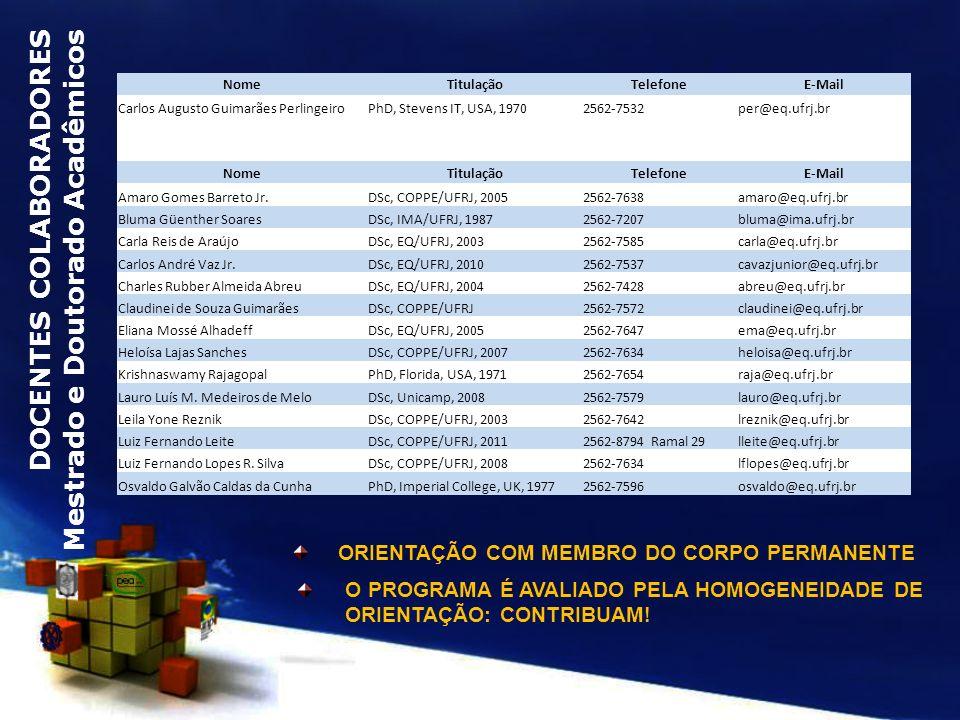 ORIENTAÇÃO COM MEMBRO DO CORPO PERMANENTE