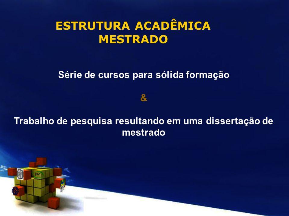 ESTRUTURA ACADÊMICA MESTRADO