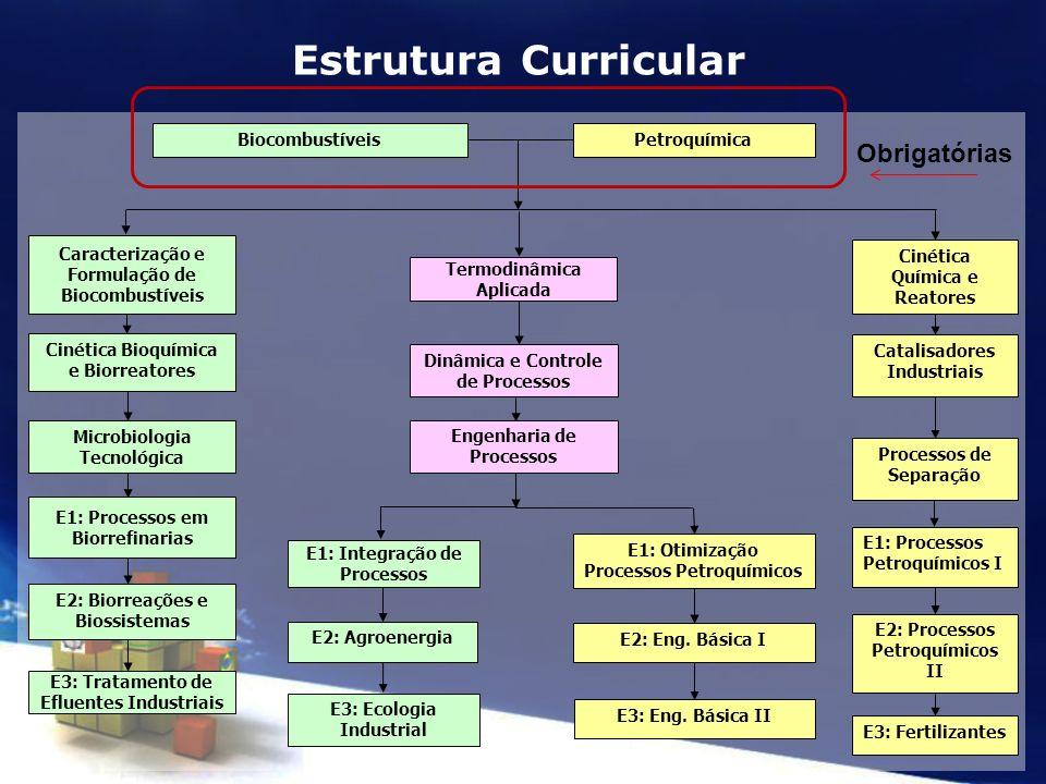 Estrutura Curricular Obrigatórias Biocombustíveis Petroquímica