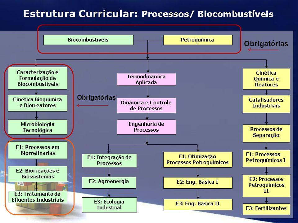 Estrutura Curricular: Processos/ Biocombustíveis