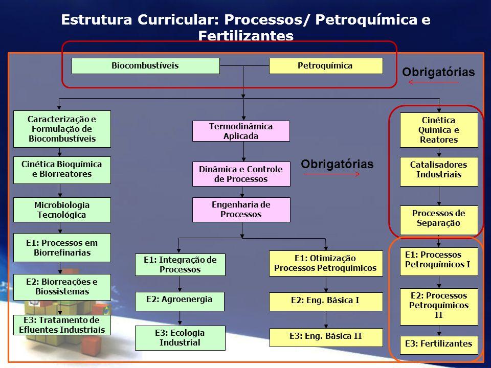 Estrutura Curricular: Processos/ Petroquímica e Fertilizantes
