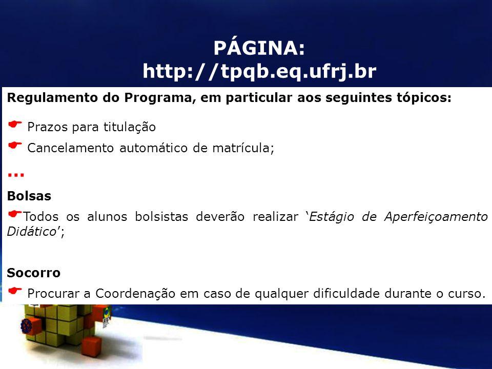 PÁGINA: http://tpqb.eq.ufrj.br