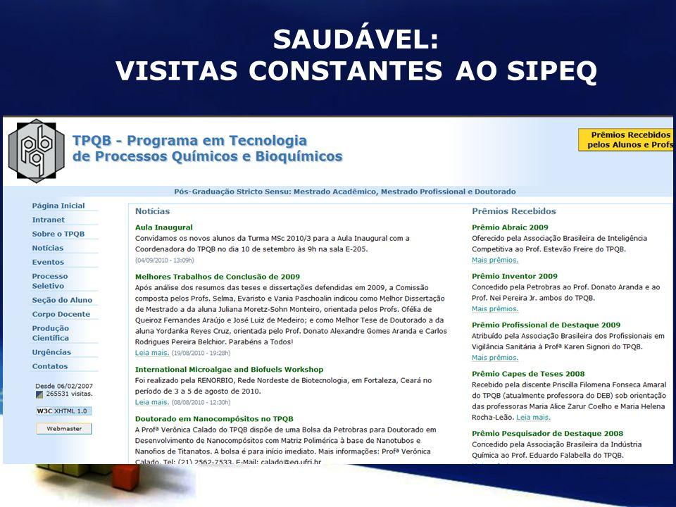 VISITAS CONSTANTES AO SIPEQ